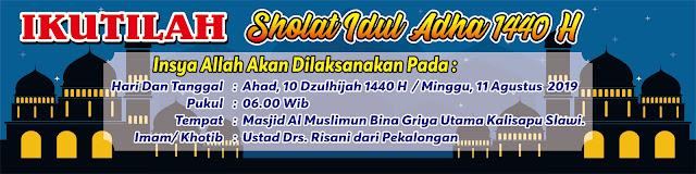 Contoh Desain Banner Sholat Idul Adha CDR, Ai, EPS, PNG ...