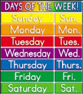 hari seminggu bahasa Inggris dan cara membacanya