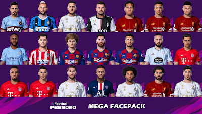 PES 2020 Facespack ( 21 Faces ) by Messi Pradeep