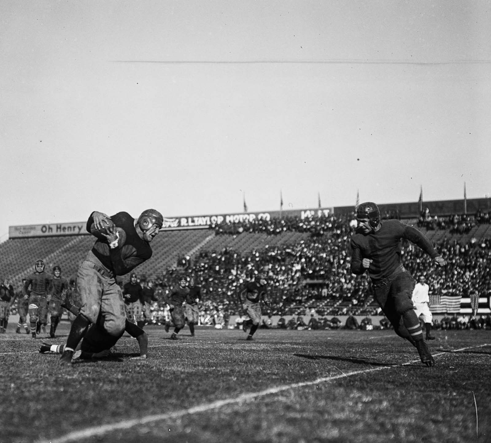 The popularity of college football grew as it became the dominant version of the sport in the United States for the first half of the 20th century.