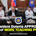 Malacañang approves creation of more teaching positions