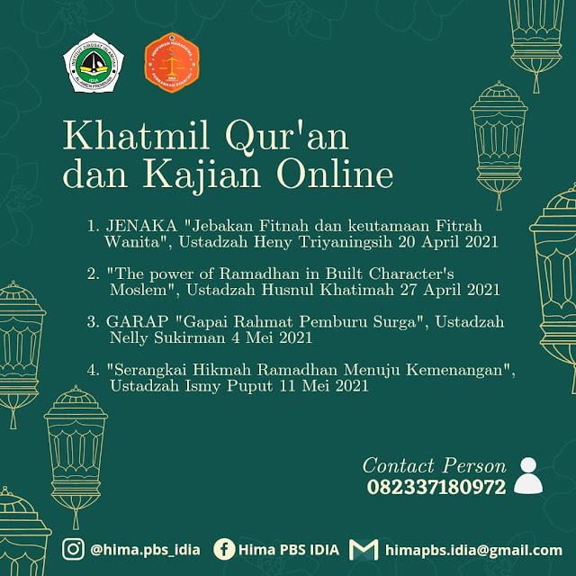 Khatmil Quran dan Kajian Online Ramadhan