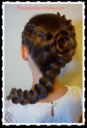 Magnificent Dutch Braid Rose Hairstyle Tutorial Flower Girl Hairstyles Short Hairstyles Gunalazisus