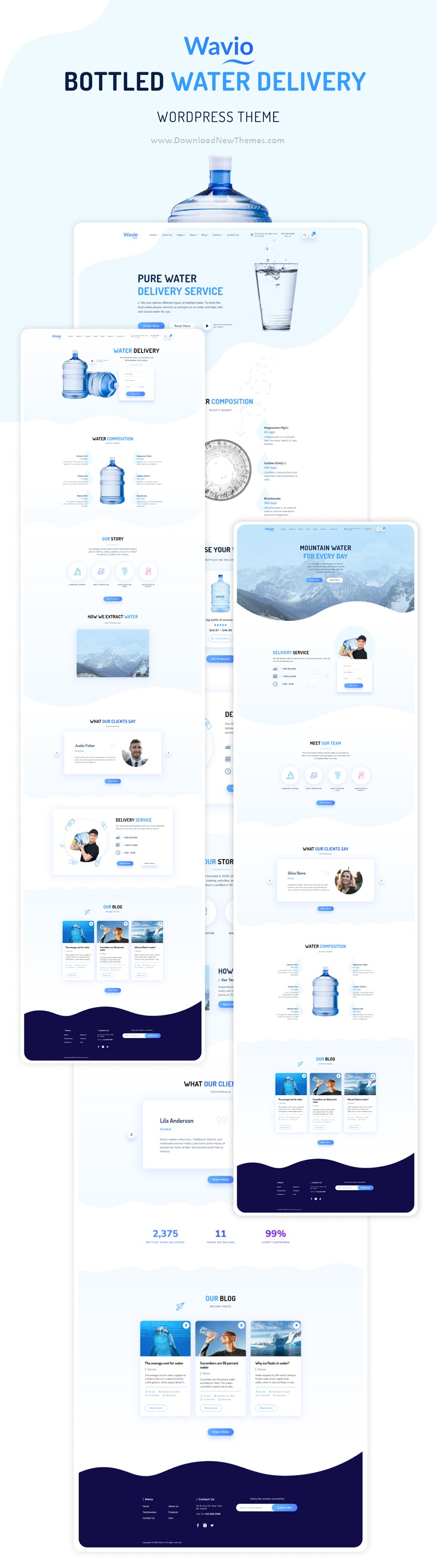 Bottled Water Delivery WordPress Theme