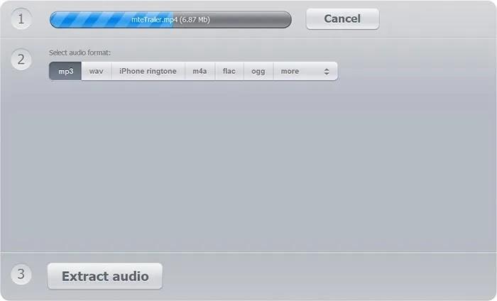 استخراج الصوت من ملف تحميل مستخرج الصوت والفيديو