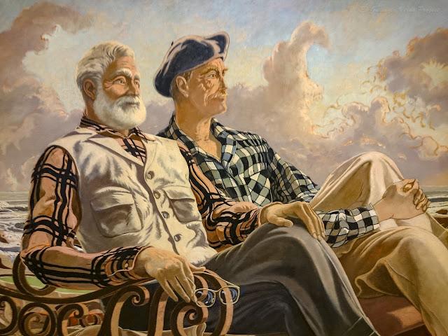 Conversación, Hemingway y Duñabeitia; Jose María de Ucelay - Museo Bilbao por EGVP