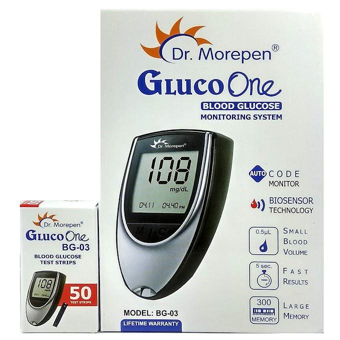 Dr. Morepen BG-03 Gluco One Glucometer Combo