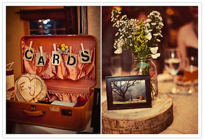 vintage suitcase for wedding cards, rustic wedding ideas