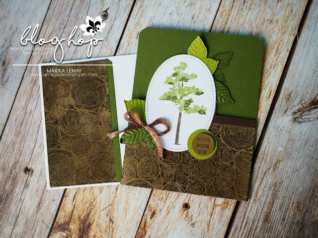 carte estivales avec le jeu racines de vie Stampin' Up!