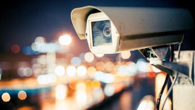 обектив на CCTV camera