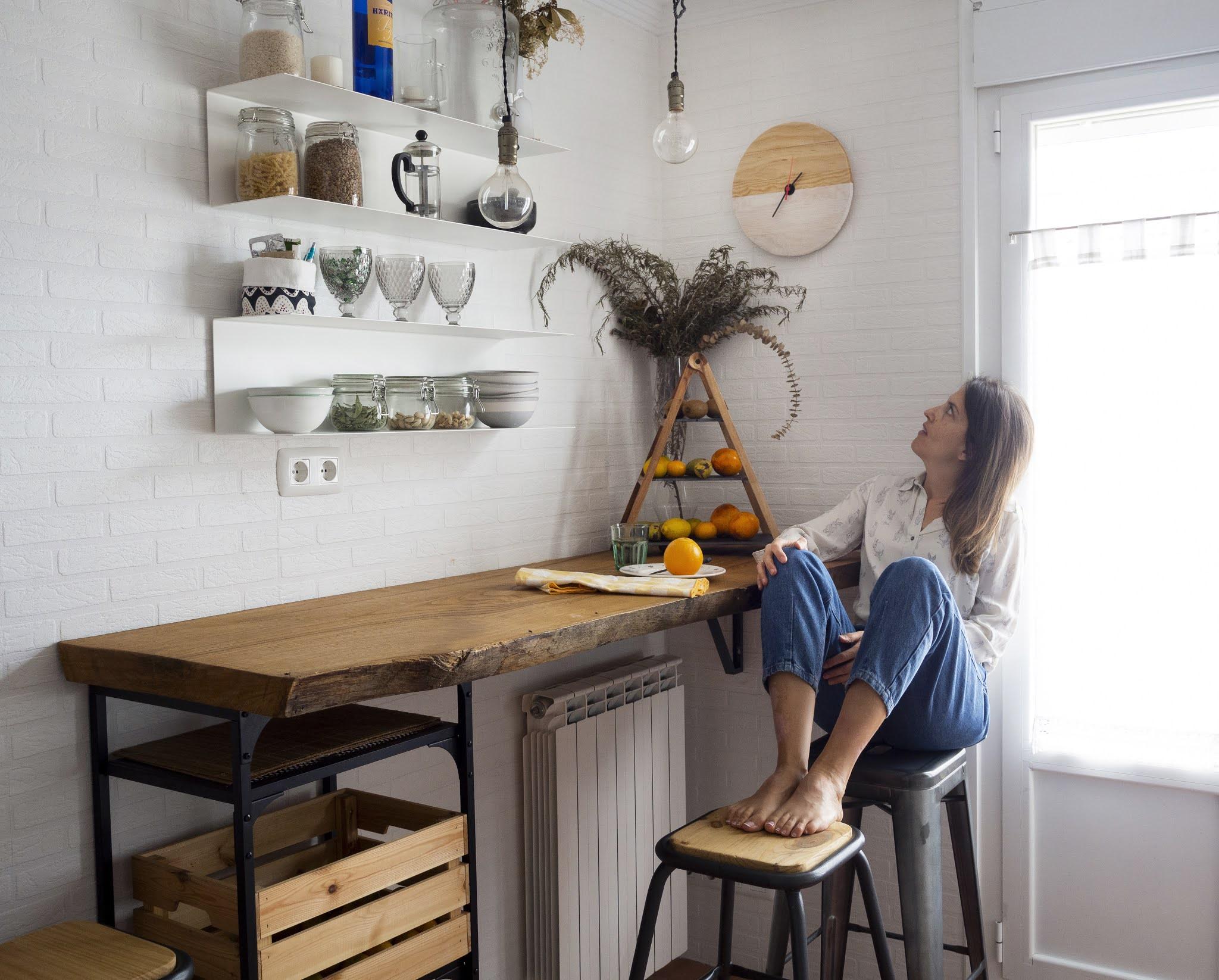 DIY Reloj de madera para nuestra cocina2