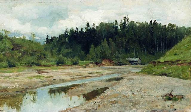Исаак Ильич Левитан - Лесная речка. 1886-1887