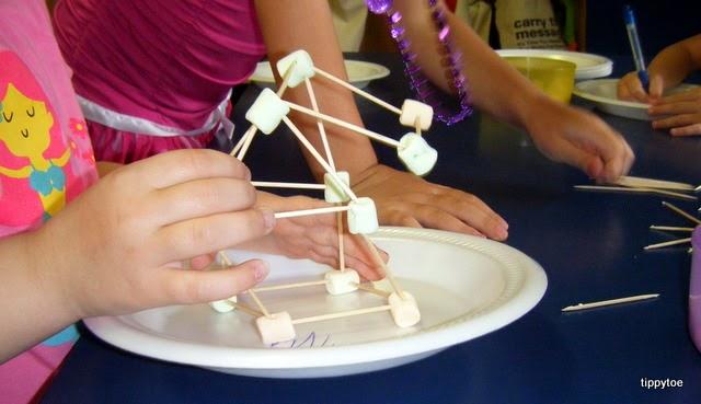 Tippytoe Crafts Marshmallow Eiffel Towers