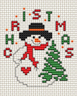 This is a photo of Vibrant Free Printable Christmas Ornament Cross Stitch Patterns