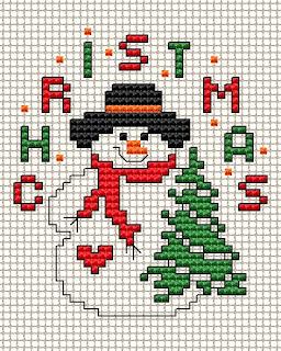 free cross stitch pattern snowman - Free Christmas Cross Stitch Patterns