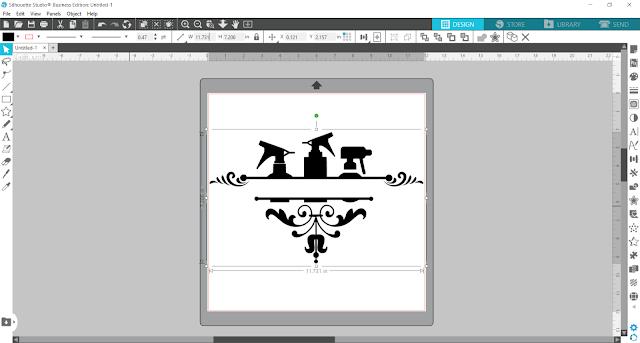 split monogram, monogram, custom designs, silhouette studio v4, ungroup tool