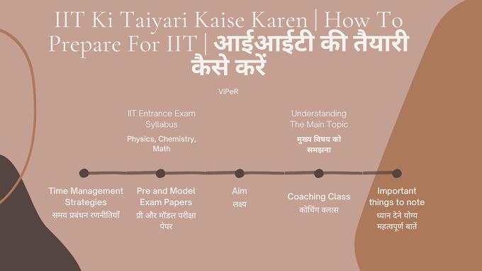 IIT Ki Taiyari Kaise Karen | How To Prepare For IIT | आईआईटी की तैयारी कैसे करें