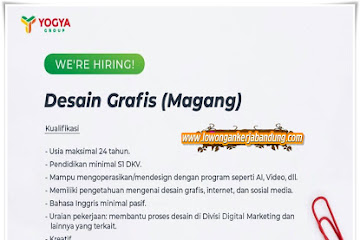 Lowongan Kerja Karyawan Desain Grafis Yogya Group