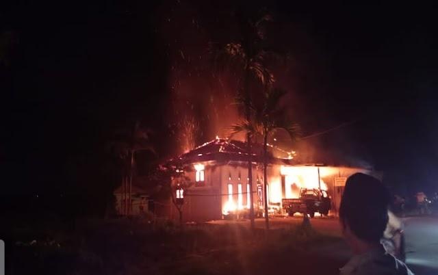 Rumah Warga di Kerinci Terbakar Saat Warga Sedang Tarawih