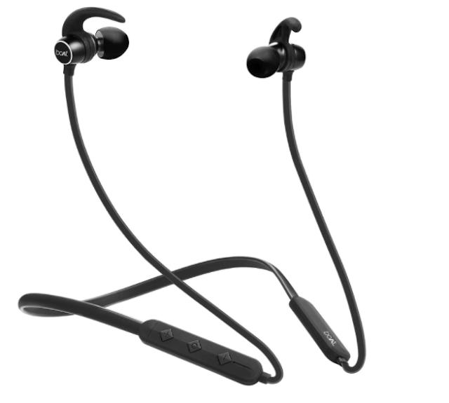 boAt Rockerz 255 Sports in-Ear Bluetooth Neckband Earphone with Mic (Active Black)