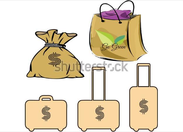 design 3d in illustrator bag