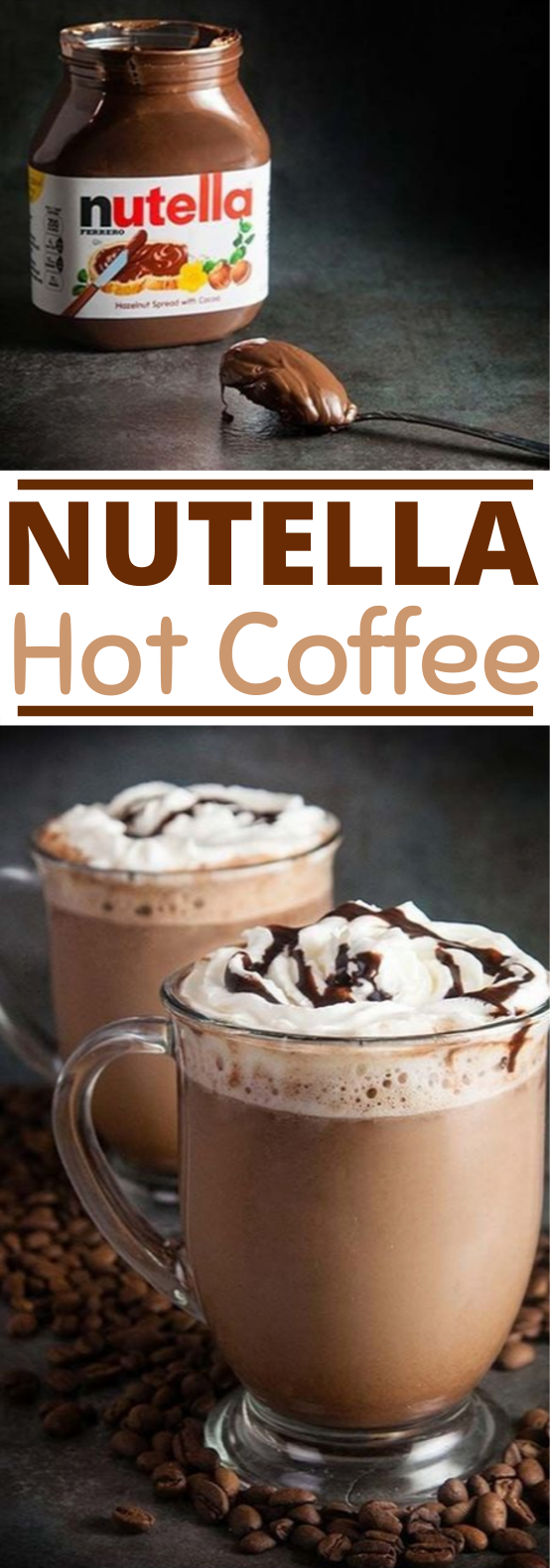 Nutella Hot Coffee #coffee #drinks #hotchocolate #latte #warm