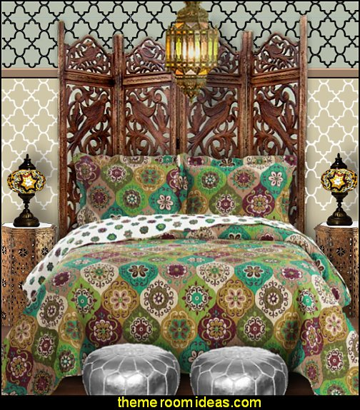 Moroccan bedding Moroccan furniture Moroccan lamps Moroccan wall decorations