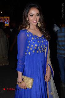 Telugu Actress Tejaswi Madivada Pos in Blue Long Dress at Nanna Nenu Na Boyfriends Audio Launch  0069.JPG