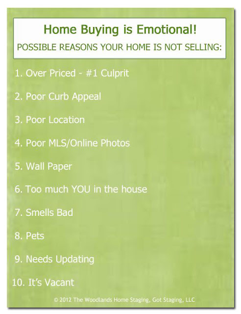 The Woodlands Home Staging Reasons Why Home is Not Selling