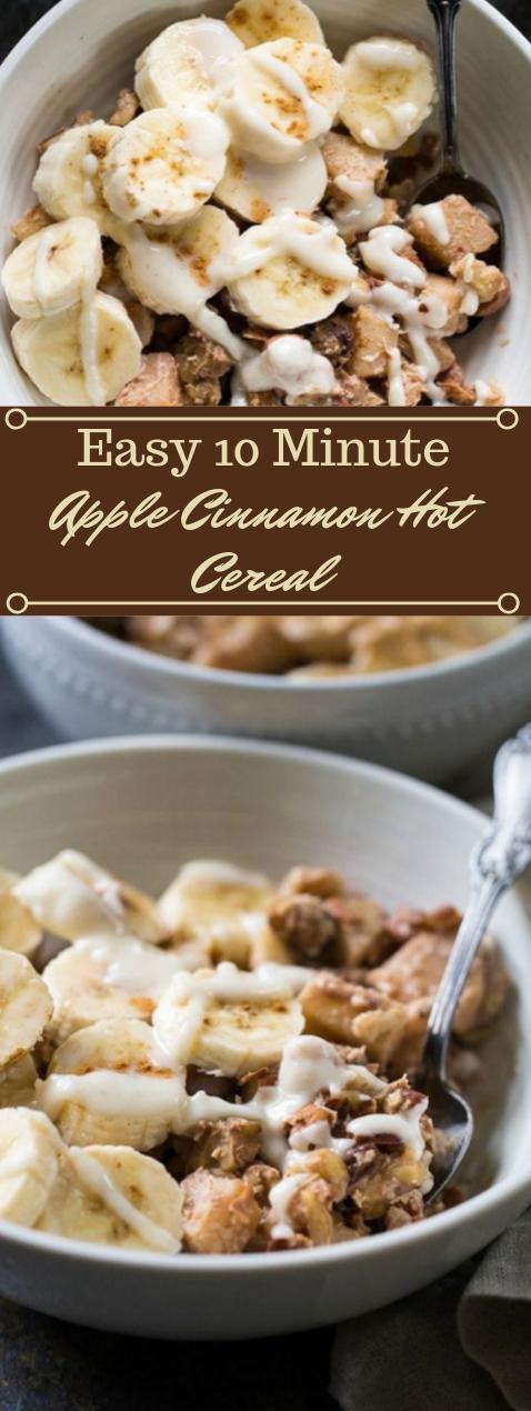Easy Apple Cinnamon Paleo Hot Cereal #desserts #cakes #apple #easy #cinnamon
