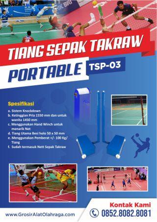 tiang sepak takraw portable tsp-03