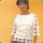Jersey con estrellitas a Crochet