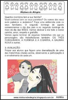 Projeto dia do trabalho e das mães