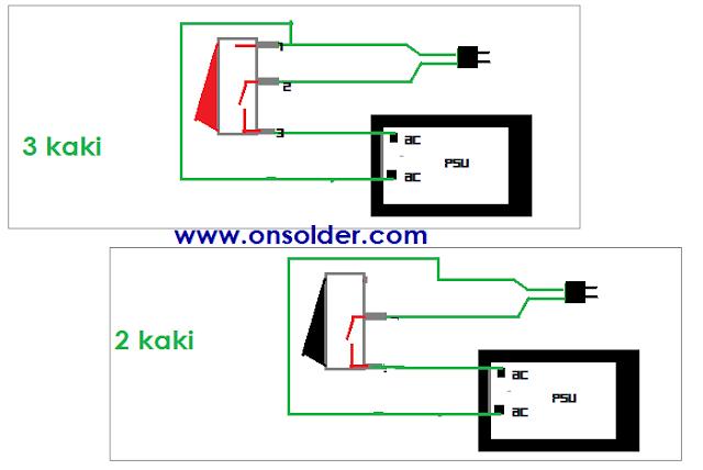 cara memasang saklar pada amplifier dan speaker aktif