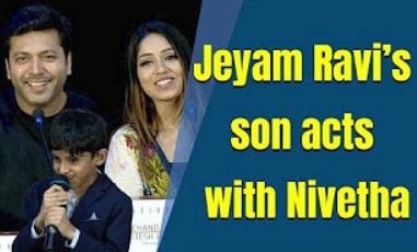 Jeyam Ravi Speech about Nivetha Pethuraj | Tik Tik Tik Audio Launch | D.Imman