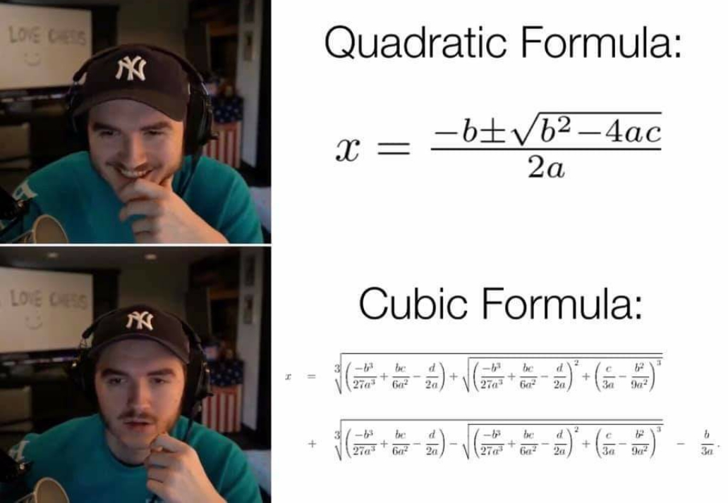See how the formula will be After Quadratic and cubic formulae