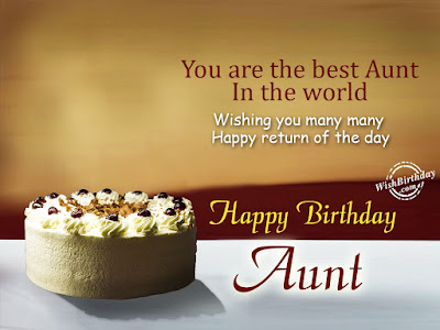 happy birthday message to my favourite aunt