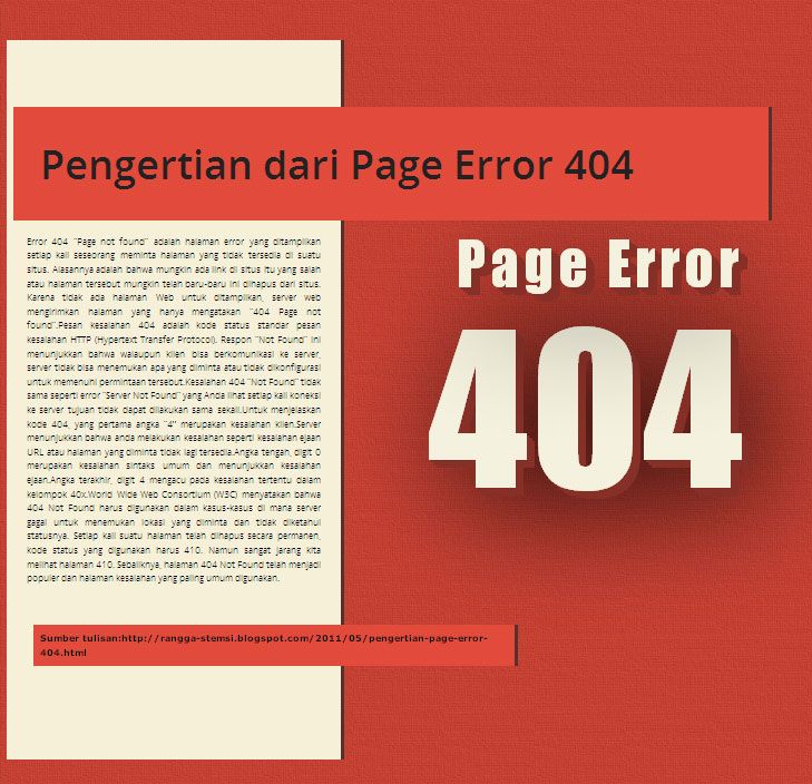Pengertian Page Error 404