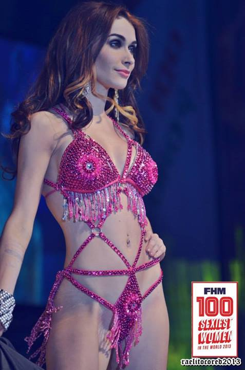 daiana meneses at fhm philippines 100 sexiest 2013 victory party sexy pink bikini