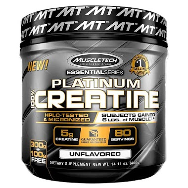 MuscleTech Platinum 100% Creatine Unflavoured, 0.88 lb