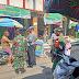 Koramil 08/Baki Bersinergi Dengan Polsek Baki Sambangi Pasar Baki Himbau 5M