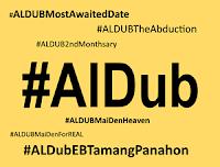 Most tweeted AlDub hashtags