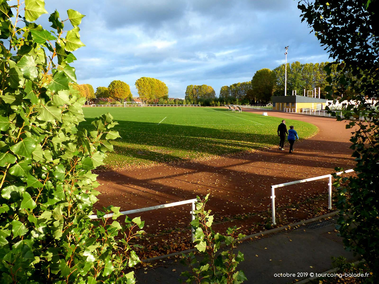 Jogging Tourcoing - Stade Houpline, Terrain Coque.