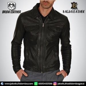Jual Jaket Kulit Asli Garut Pria Domba Original Brida Leather B61 | WA 08813430588