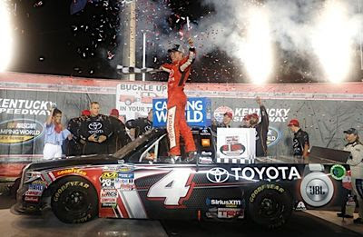 Bell spins, wins Buckle Up in Your Truck 225