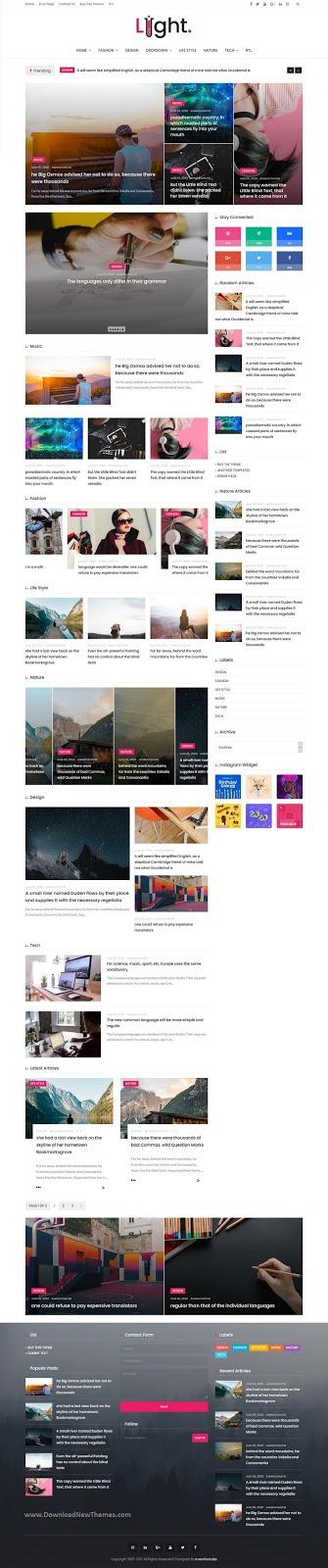 News & Personal Magazine Premium Blogger Theme