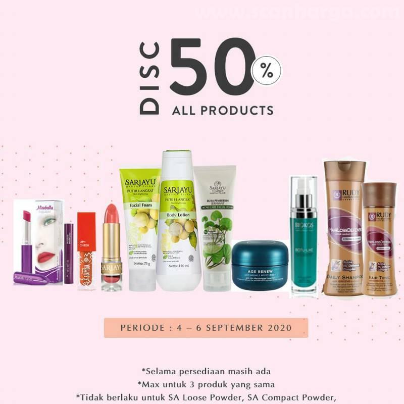 Promo Golden Swalayan Diskon 50% Produk Kosmetik