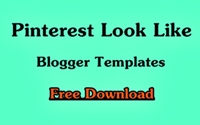 Top 5 Pinterest Look Blogger Templates Free Download