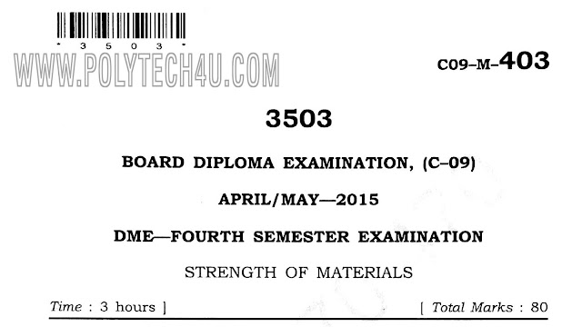 c-09-m- 403 strength of materials previous question paper