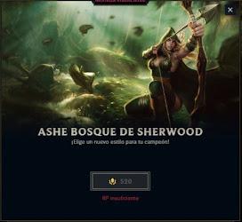 skin de ashe bosque de sherwood